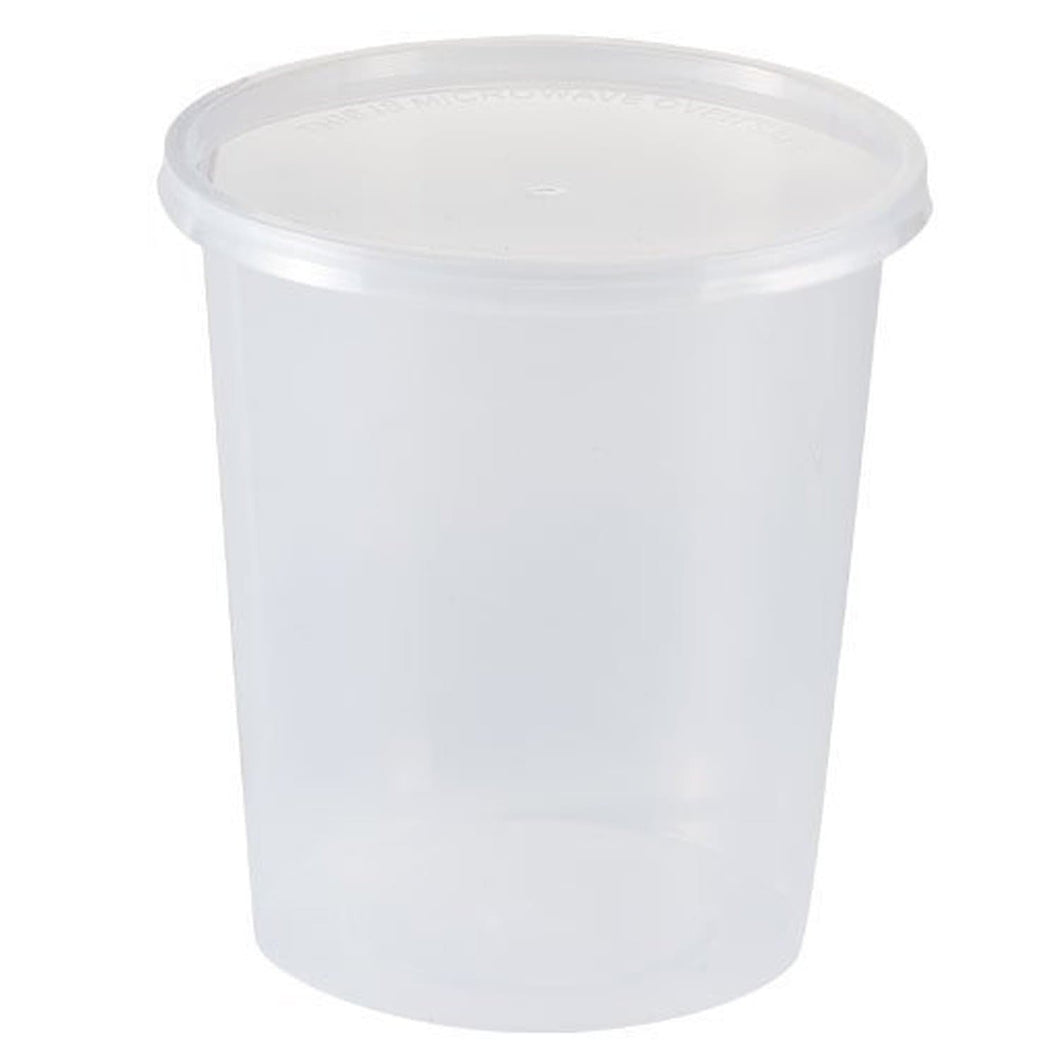 Nicole Home Collection Food Storage Container Round Clear 32 oz 4Ct Nicole Collection