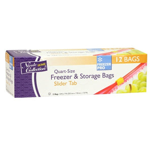 Nicole Home Collection Slide Freezer Storage Bag Quart size Per Box Nicole Collection