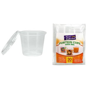 Nicole Home Collection Portion Cups with Lids Clear 2 oz 50Ct
