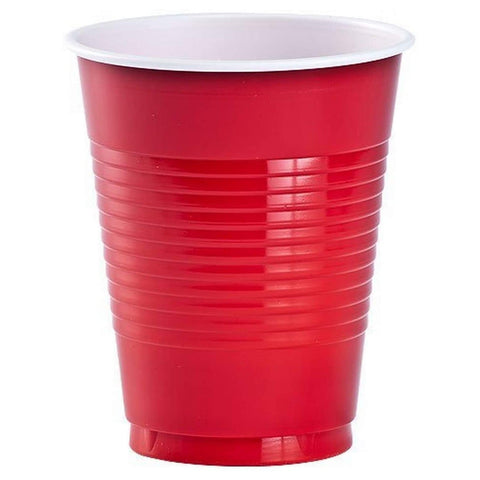 Hanna K. Signature Plastic Cups Apple Red 18 oz 50Ct