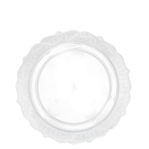 Elegant Collections Salad Dessert Plate Clear 7.25""