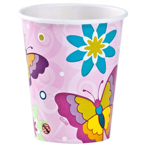 Paper Cup Birthday Butterfly Hot Cold 9 oz Hanna K