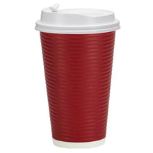 Paper Cup Maroon Hot Cold with lid 16 oz Nicole Home
