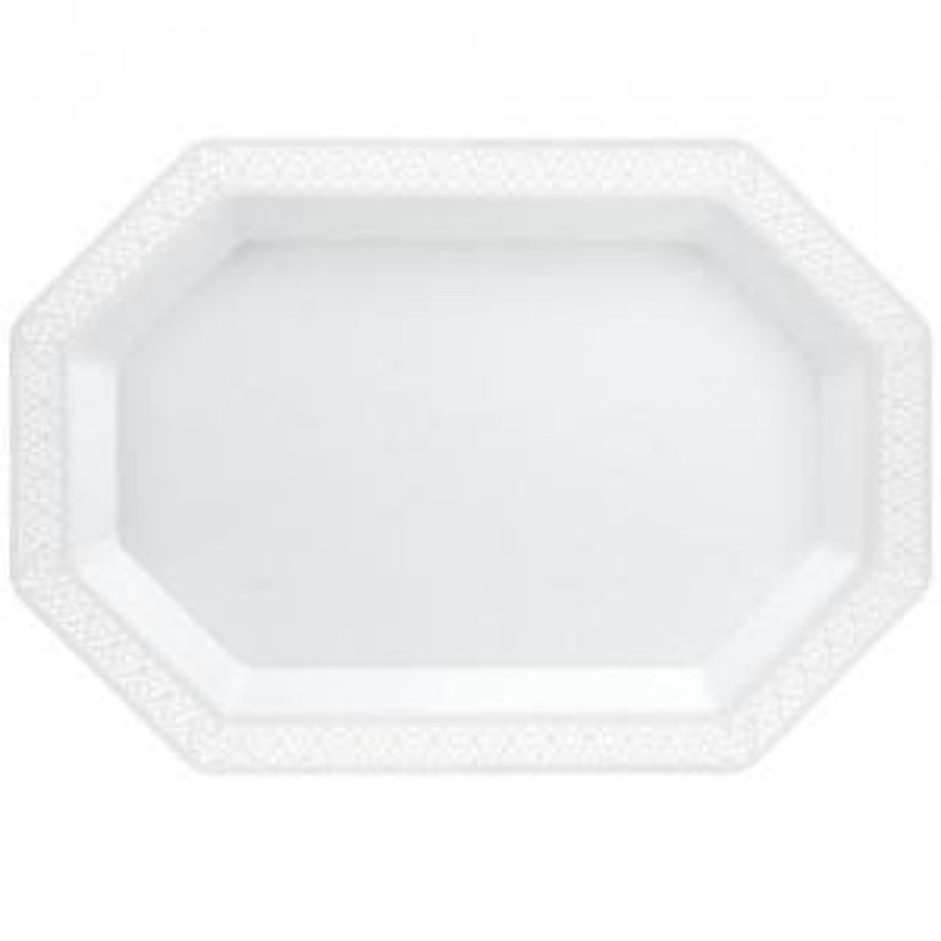 Pearl Lacetagon 9''X13'' Tray 3Ct Lillian