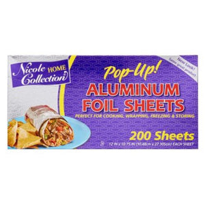 Pre-Cut Aluminum Foil Sheets 200Ct Nicole Collection