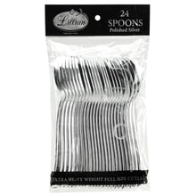 Premium Plastic Spoon Polished Silver Lillian