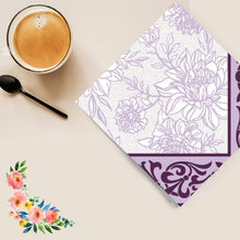 Purple Petal Pride Disposable Lunch Paper Napkins