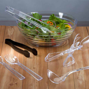 "12"" Clear Plastic Tongs"