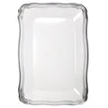 Aristocrat Collection Rectangle Serving Trays White & Silver