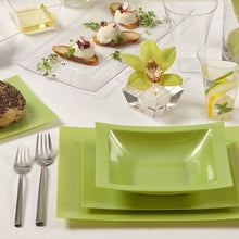 Rectangular Plastic Dessert Bowls Pistachio 5 oz Lillian Tablesettings