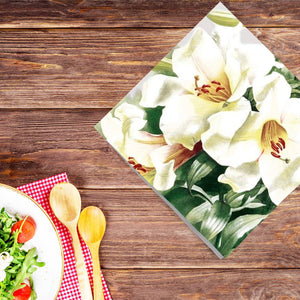 Serene Green Disposable Lunch Paper Napkins