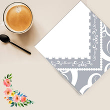 Silver Medley Lunch Napkins