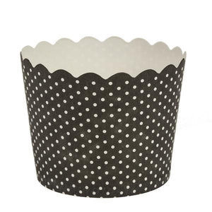 Simcha Collection Black Polka Dots Large Baking Cups 16Ct Blue Sky