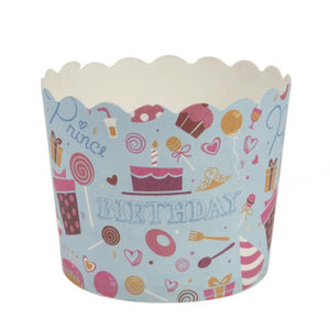 Simcha Collection Blue Bday Large Baking Cups 16Ct Blue Sky