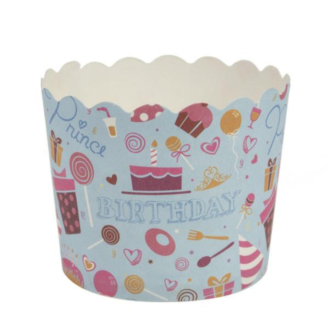Simcha Collection Blue Bday Small Baking Cups 20Ct Blue Sky