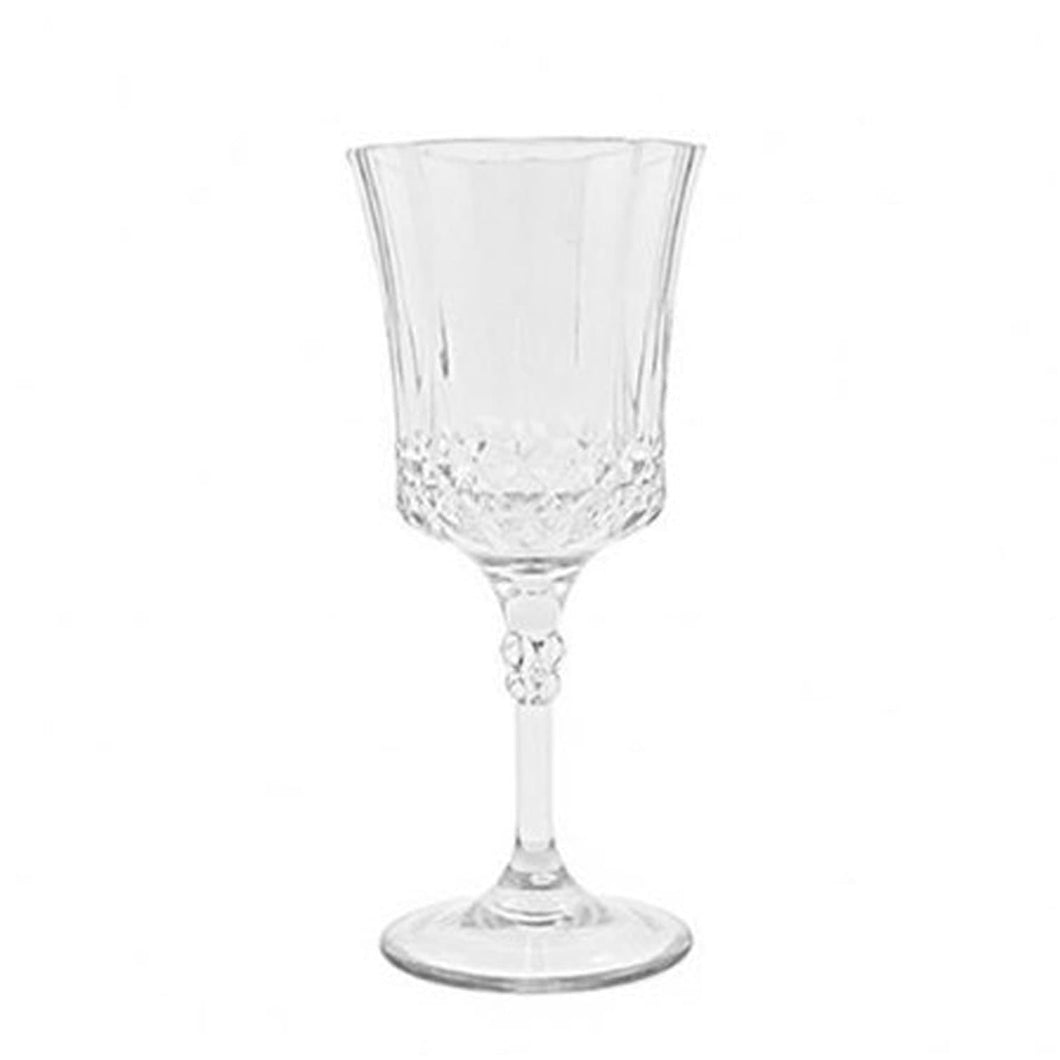 Simcha Collection Crystal Like French Goblets Clear 4Ct Blue Sky