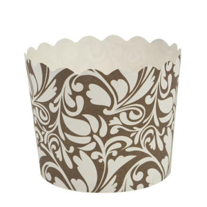 Simcha Collection Design Large Baking Cups Brown 16Ct Blue Sky