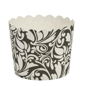 Simcha Collection Design Small Baking Cups Black 20Ct Blue Sky