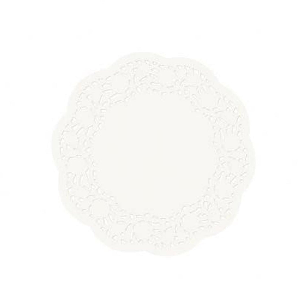 Simcha Collection Doily White Round 8.5