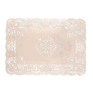 "Simcha Collection Oblong Doily Silver 10 X 14.5"" Blue Sky"