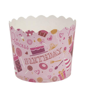 Simcha Collection Pink Bday Large Baking Cups 16Ct Blue Sky
