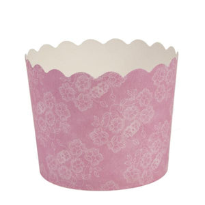Simcha Collection Pink Floral Small Baking Cups 20Ct Blue Sky