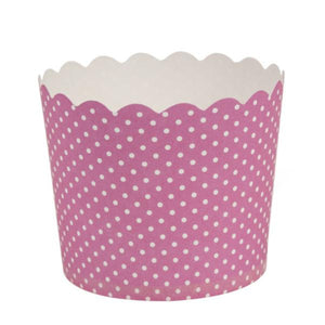 Simcha Collection Pink Polka Dots Large Baking Cups 16Ct Blue Sky