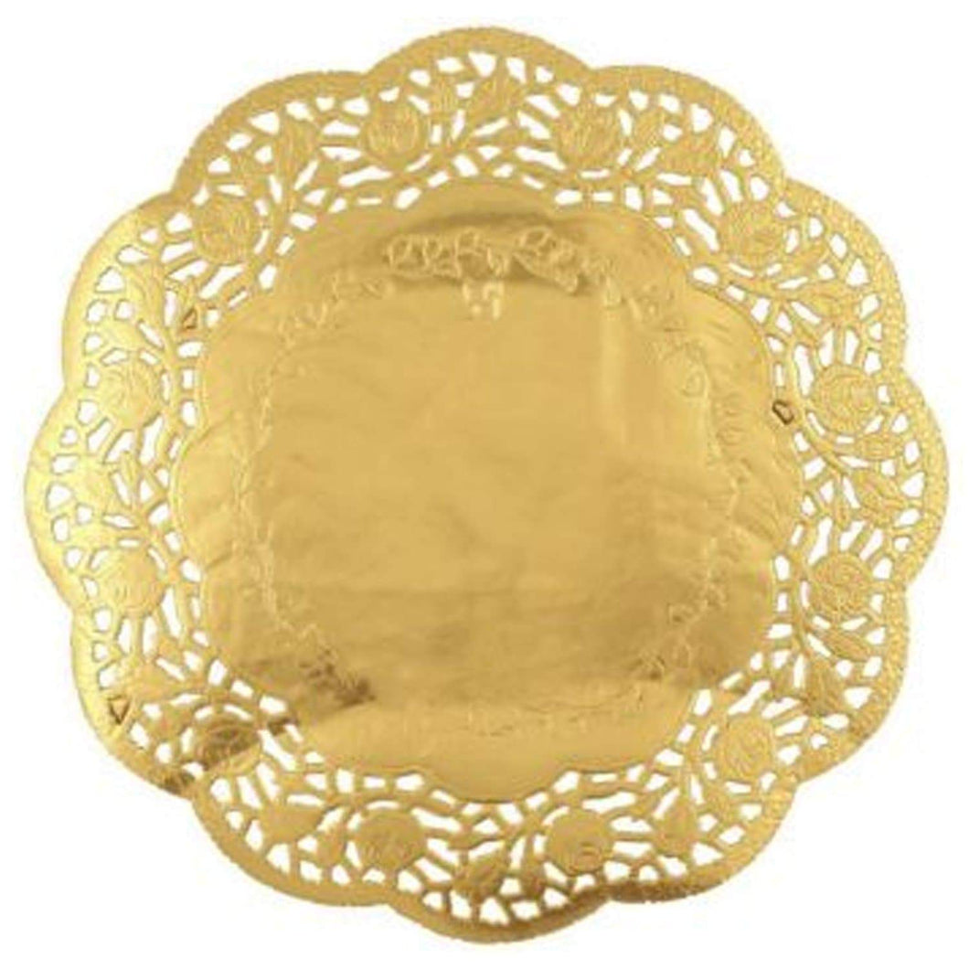 Simcha Collection Round Gold Doily 10.5