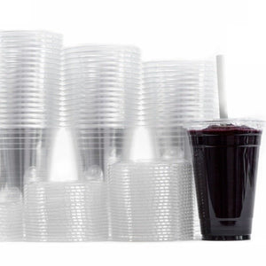 Smoothie Cup Dart Clear Plastic 16oz - Lids Sold separately 10PK