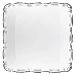 Aristocrat Collection Square Serving Trays White & Silver