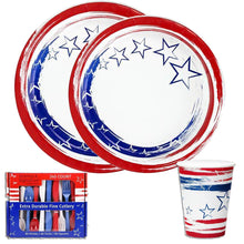Stars 'N Stripes Combo Heavyweight Plastic Cutlery 240CT