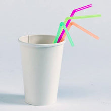 Straws Flexible Neon Multi-Colored 8.5-9.5 inches