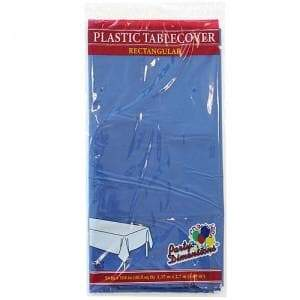 Tablecover Plastic Blue Rectangular  54'' X 108'' Party Dimensions
