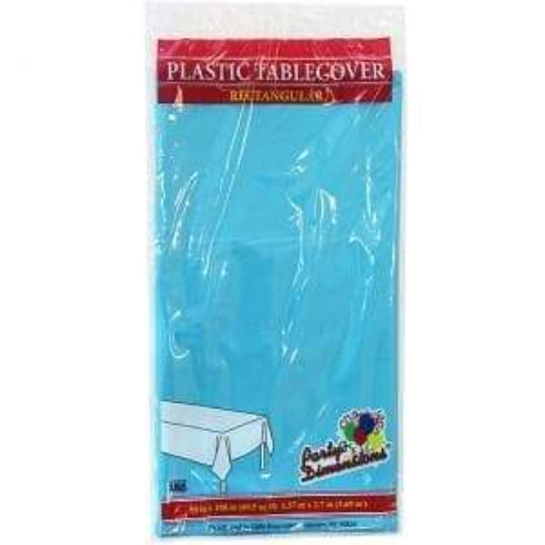 Tablecover Plastic Island Blue Rectangular 54''X108'' 1Ct Party Dimensions