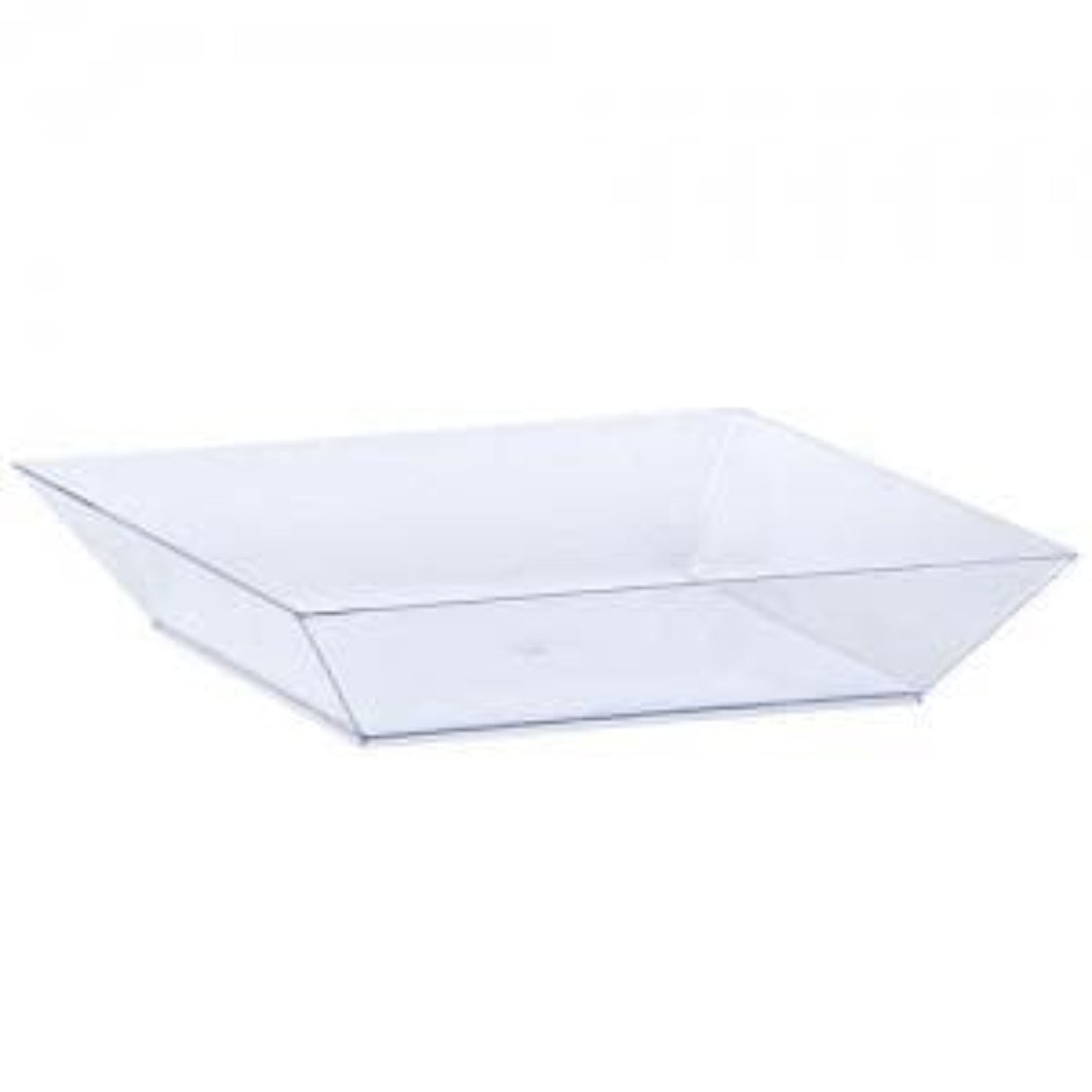 Tray Mini Clear Plastic Square 6.75