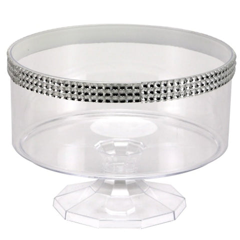 80oz Trifle Small Clear Bowl Jewel Accent
