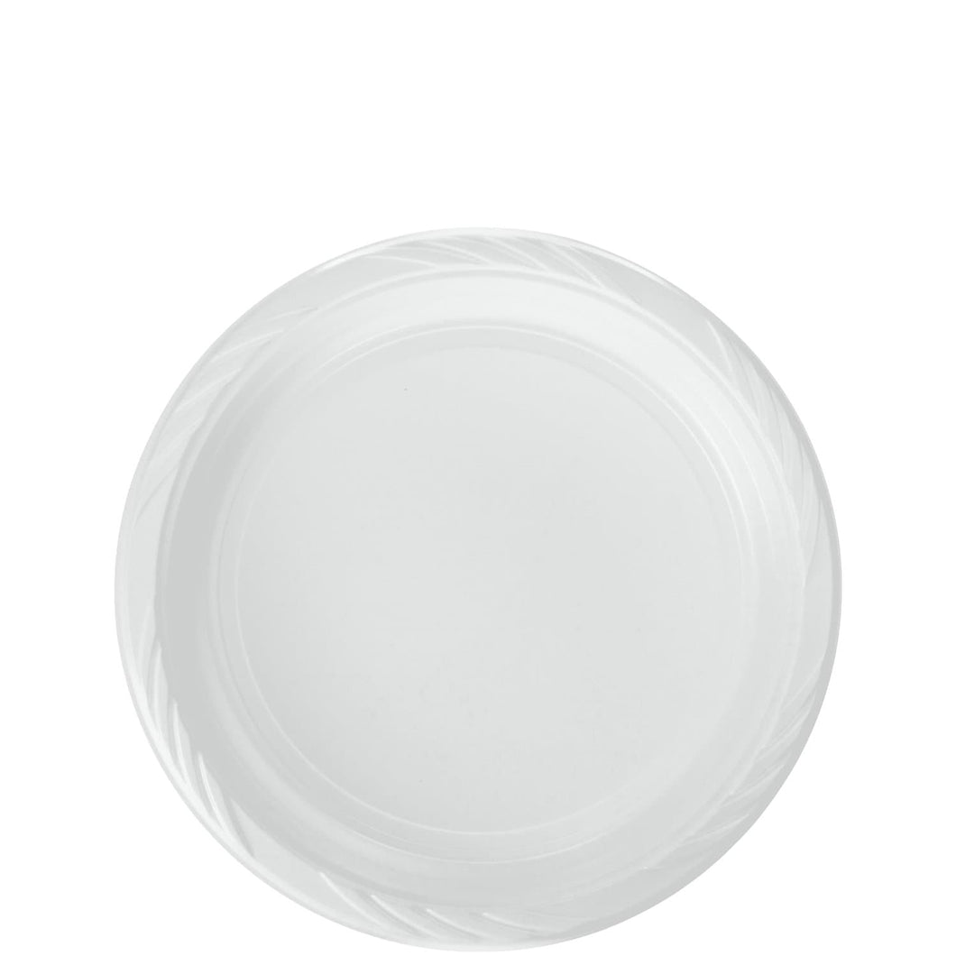 White Lightweight plastic Plates 7in 100Ct Blue Sky