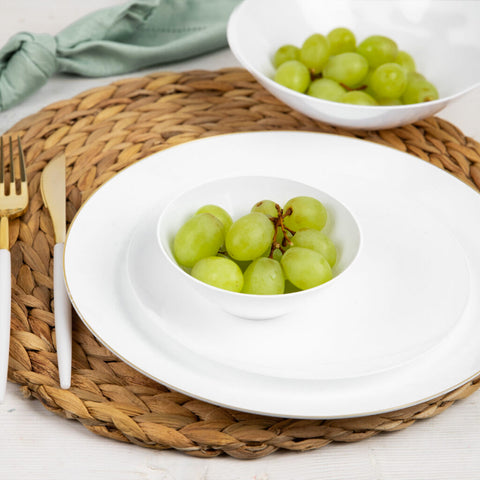 "Hanna K. Signature White heavy duty plastic Plates 9"" 100Ct"