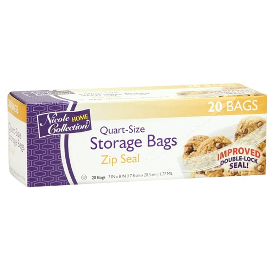 Zip Seal Storage Quart Size Bags Nicole Collection