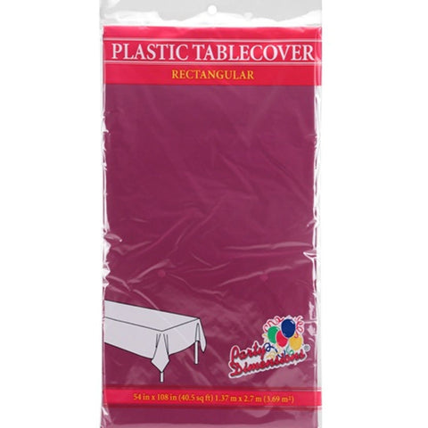 Tablecover Plastic Berry Rectangular  54'' X 108''