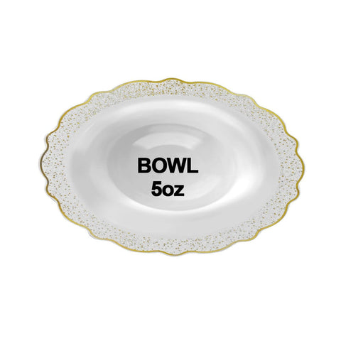 "Confetti Collections Soup Bowls Gold 5"" 10Ct - OnlyOneStopShop"