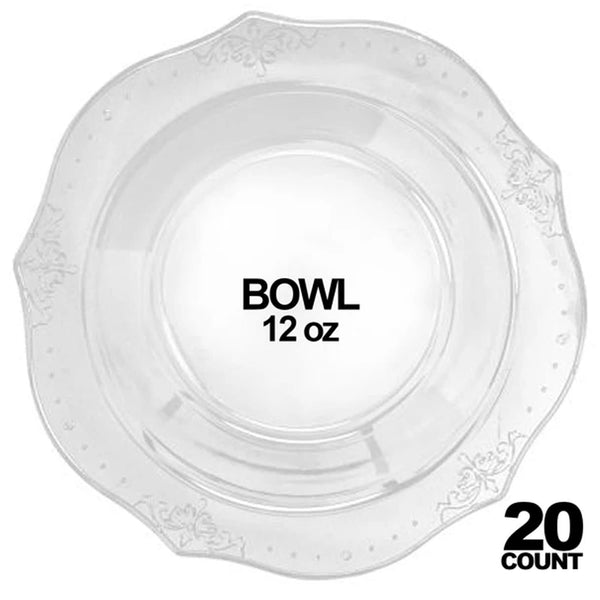 12 Quart Clear Punch Bowl - OnlyOneStopShop