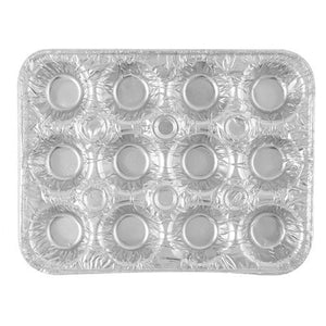 Disposable Aluminum 12 Cavity Mini Muffin Foil Pan 4PK