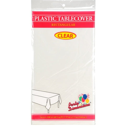 Tablecover Plastic Clear Rectangular  54'' X 108''