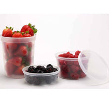 Food Storage Container Round Clear 25 oz 5Ct