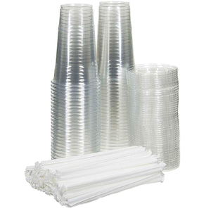 Crystal Ultra Clear PET Plastic Cups 20 oz