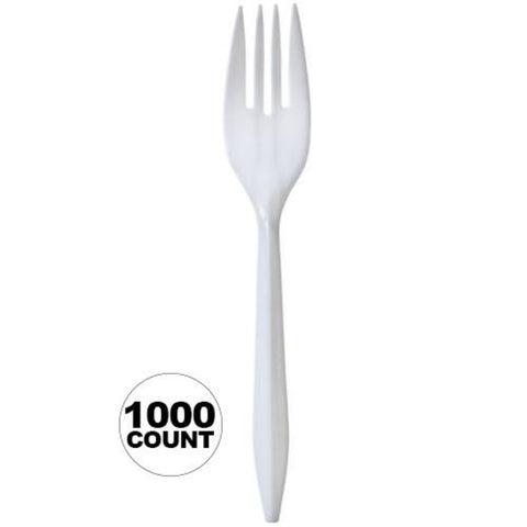 Nicole Home Collection Medium Weight Fork White 1000Ct