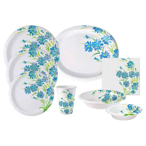 Nicole Home Collection Everyday Paper Plate Blue Floral 10.25""