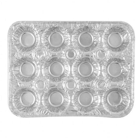 Aluminum 12 Cavity Mini Muffin Pan 4ct - OnlyOneStopShop