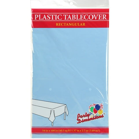 Tablecover Plastic Light Blue Rectangular  54'' X 108''